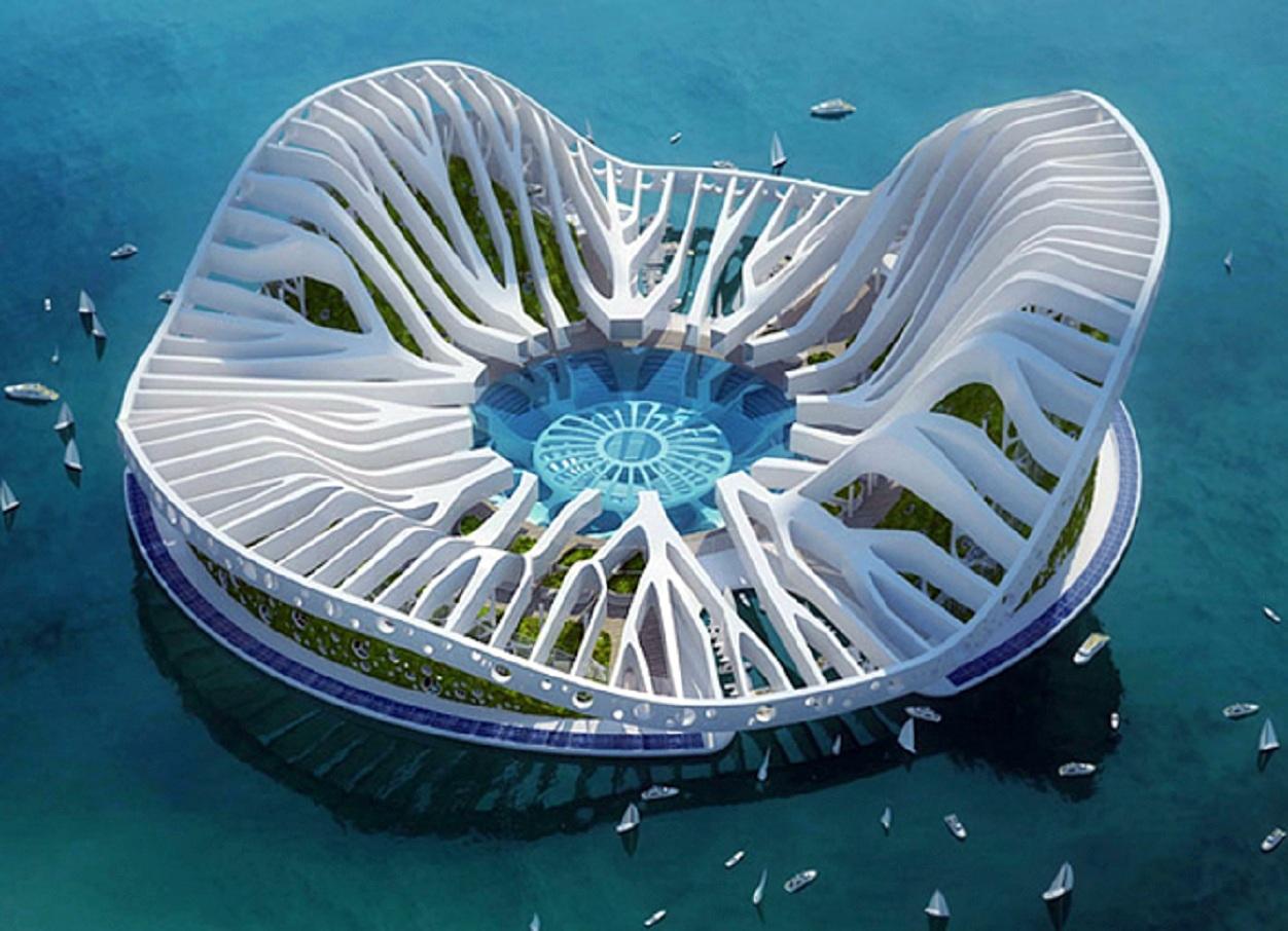projet lilypad par l architecte vincent callebaut cit flottante
