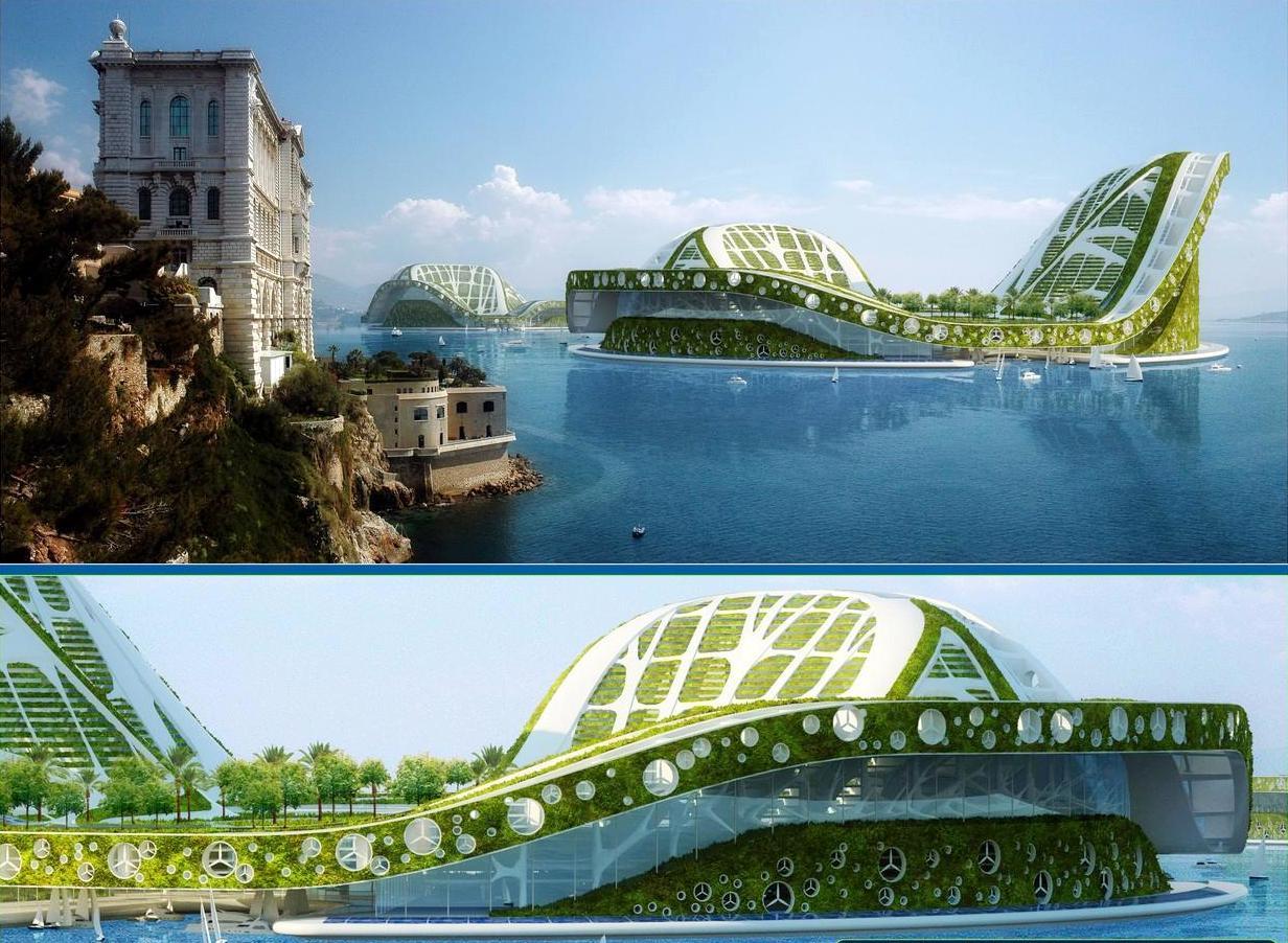 Lilypad par vincent callebaut cit flottante cologique for Architecture du futur