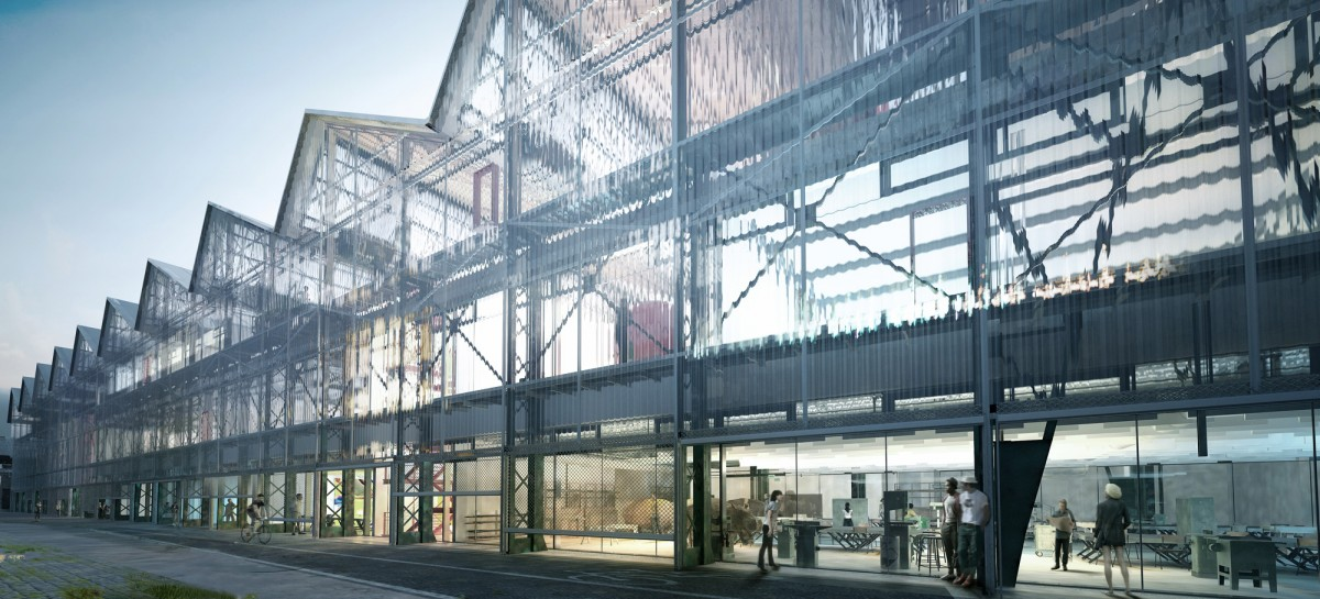 Franklin azzi transforme les halles alstom sur l 39 le de nantes for Architecture nantes