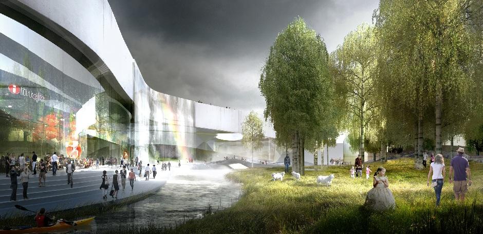 Europa city quatre quipes pour le complexe commercial du grand paris - Centre commercial roissy ...