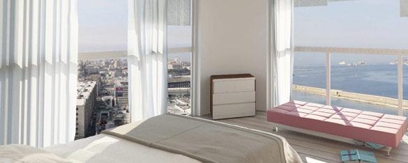 appartement vue mer tour h99 marseille Visite de la Tour H99 : la future plus haute tour dhabitation de Marseille par Jean Baptiste Pietri