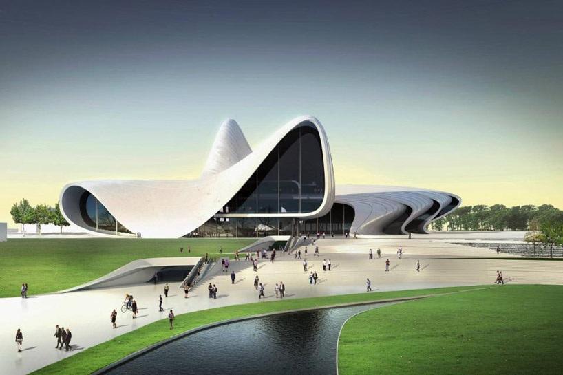 centre Heydar Aliyev bakou hadid Un centre culturel aux courbes fluides dessiné par Zaha Hadid
