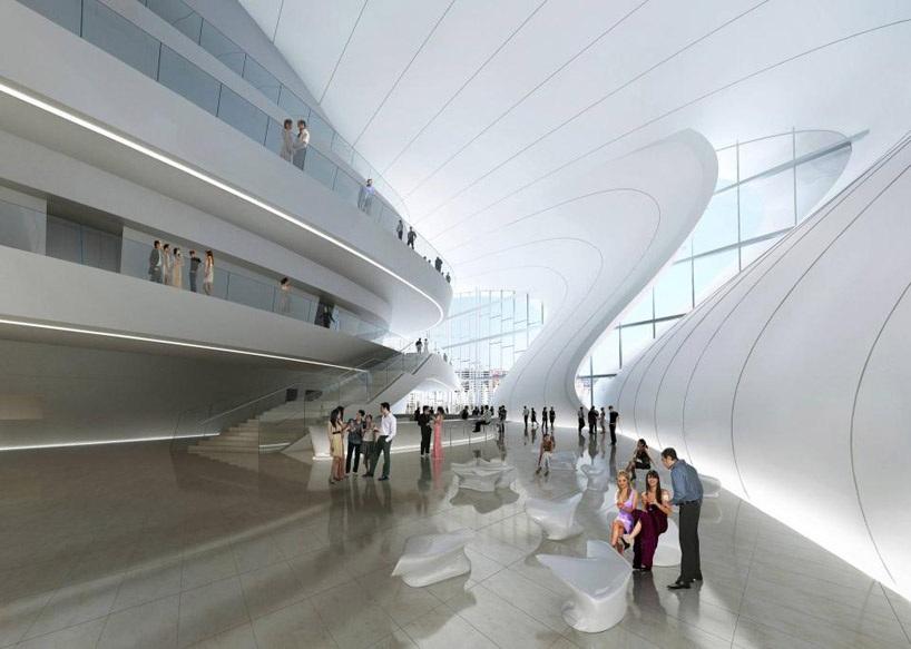 centre culturel Azerbaïdjan bakou hadid Un centre culturel aux courbes fluides dessiné par Zaha Hadid