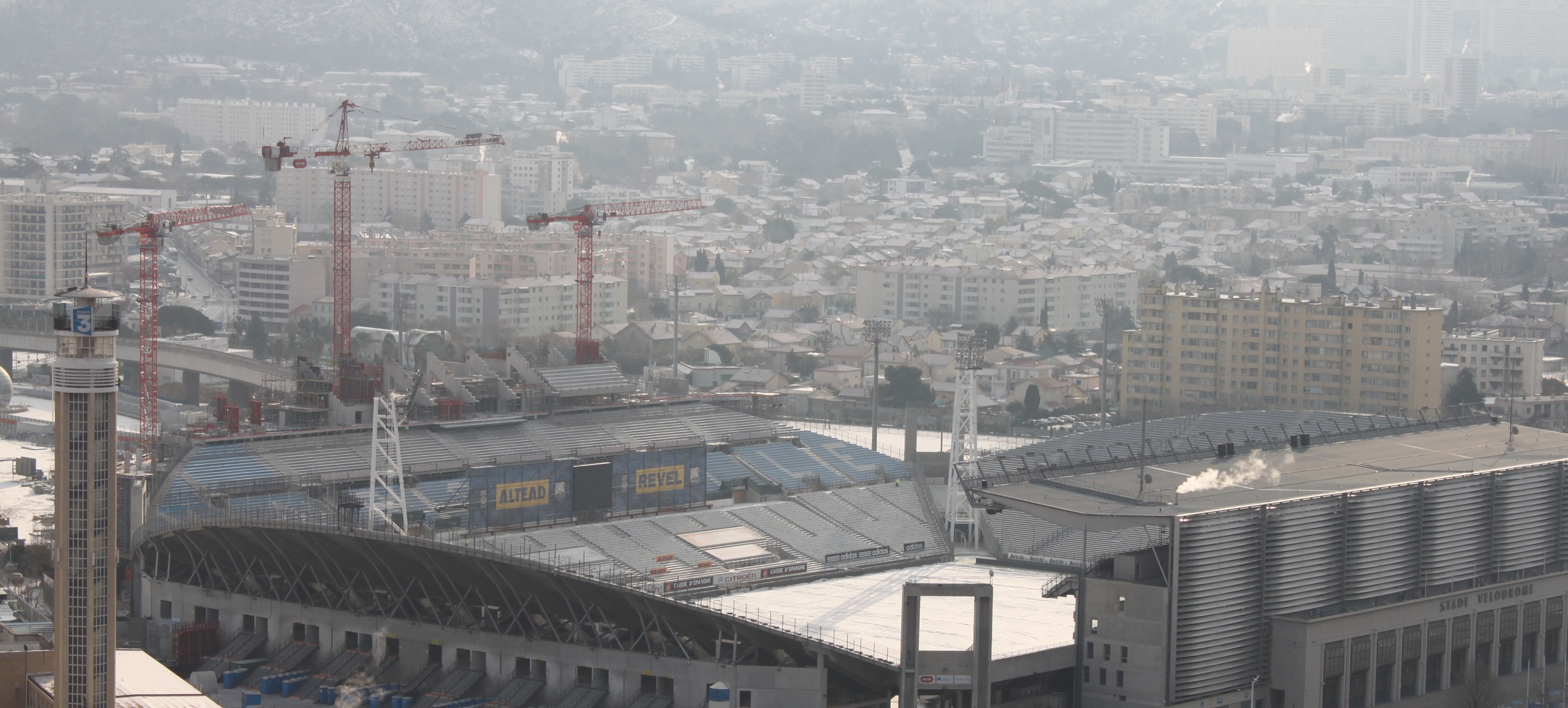 chantier travaux stade velodrome Actualits sur le chantier de rnovation et dagrandissement du Stade Vlodrome de Marseille
