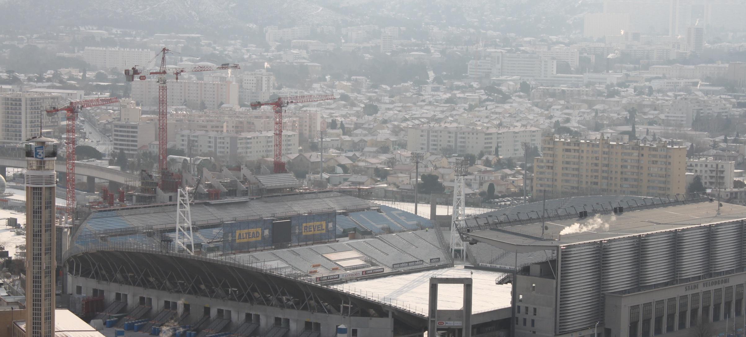 chantier travaux stade velodrome Actualités sur le chantier de rénovation et dagrandissement du Stade Vélodrome de Marseille