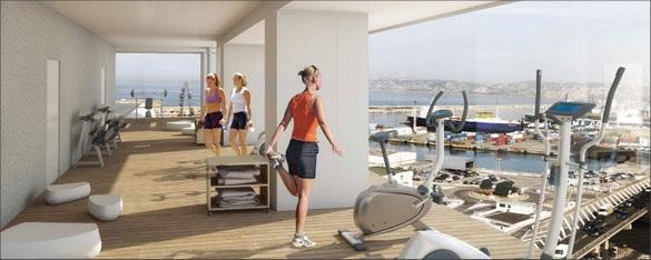 espace sport wellness tour H99 constructa Visite de la Tour H99 : la future plus haute tour dhabitation de Marseille par Jean Baptiste Pietri