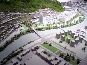 maquette projet esplanade grenoble 300x225 La ZAC de lEsplanade  Grenoble : Portzamparc met le projet sur les rails