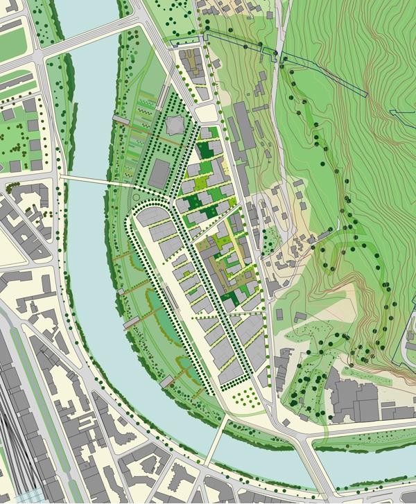plan masse zac esplanade grenoble La ZAC de lEsplanade  Grenoble : Portzamparc met le projet sur les rails
