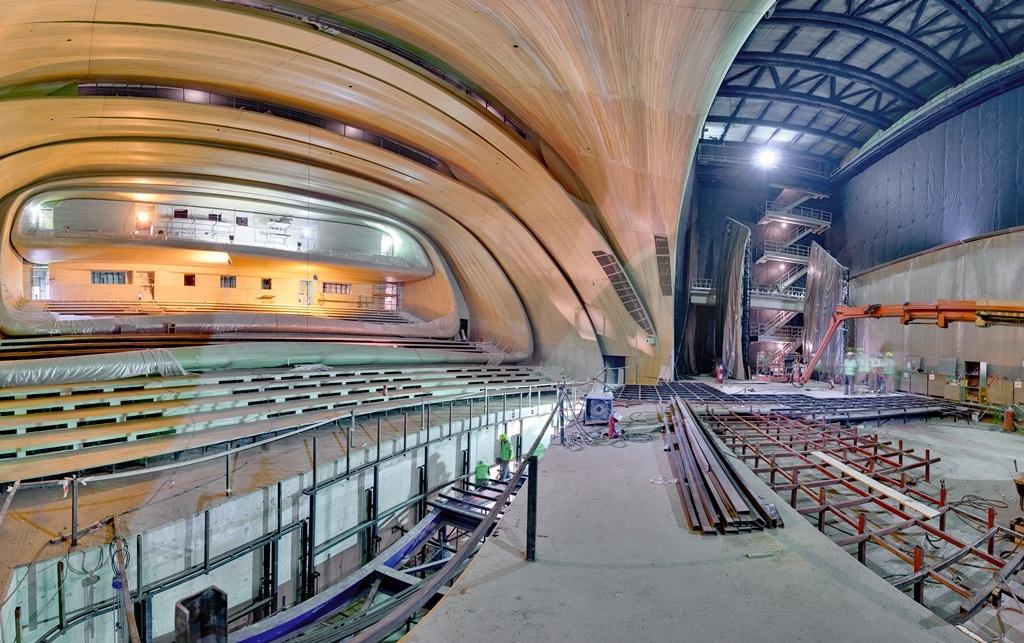 salle concert conference zaha hadid Un centre culturel aux courbes fluides dessiné par Zaha Hadid