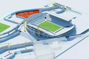 stade velodrome travaux chantier tribune ganay 300x200 Actualits sur le chantier de rnovation et dagrandissement du Stade Vlodrome de Marseille