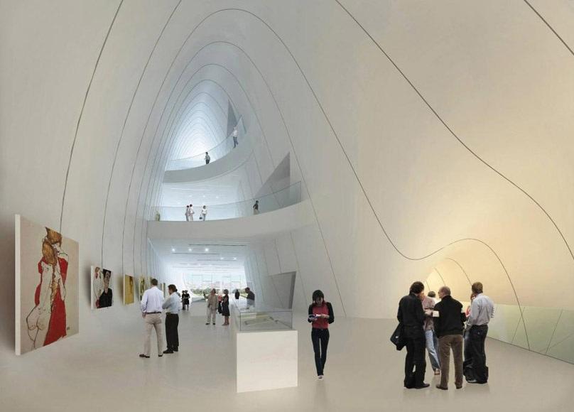structure fluidite zaha hadid Un centre culturel aux courbes fluides dessiné par Zaha Hadid