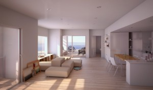tour h99 appartement 300x177 Visite de la Tour H99 : la future plus haute tour dhabitation de Marseille par Jean Baptiste Pietri