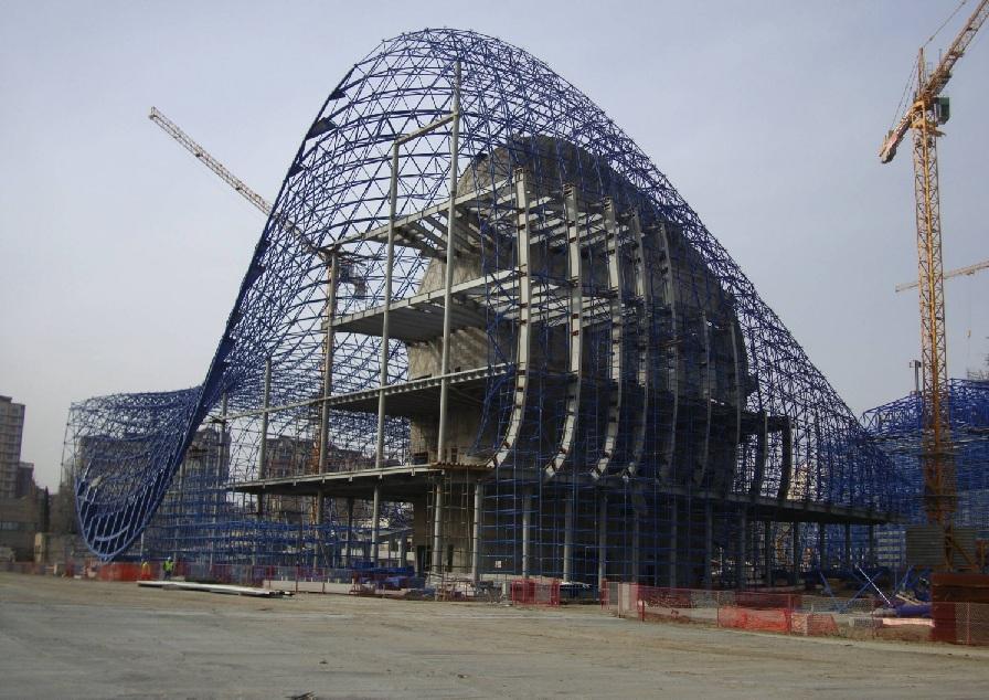 travaux zaha hadid heydar aliyev cultural centre Un centre culturel aux courbes fluides dessiné par Zaha Hadid