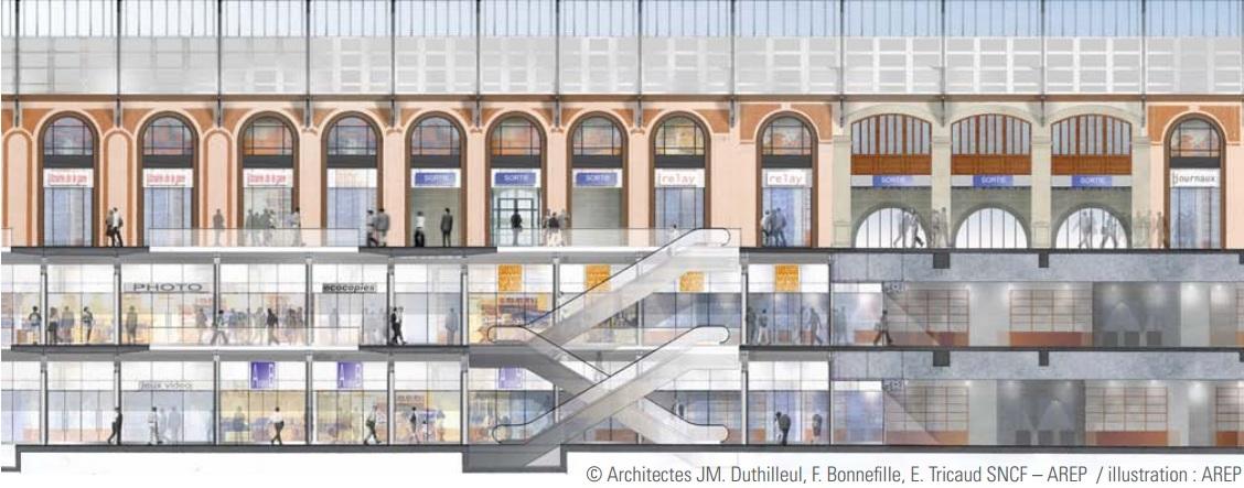 Inauguration de la gare saint lazare paris apr s dix for Plan interieur gare montparnasse