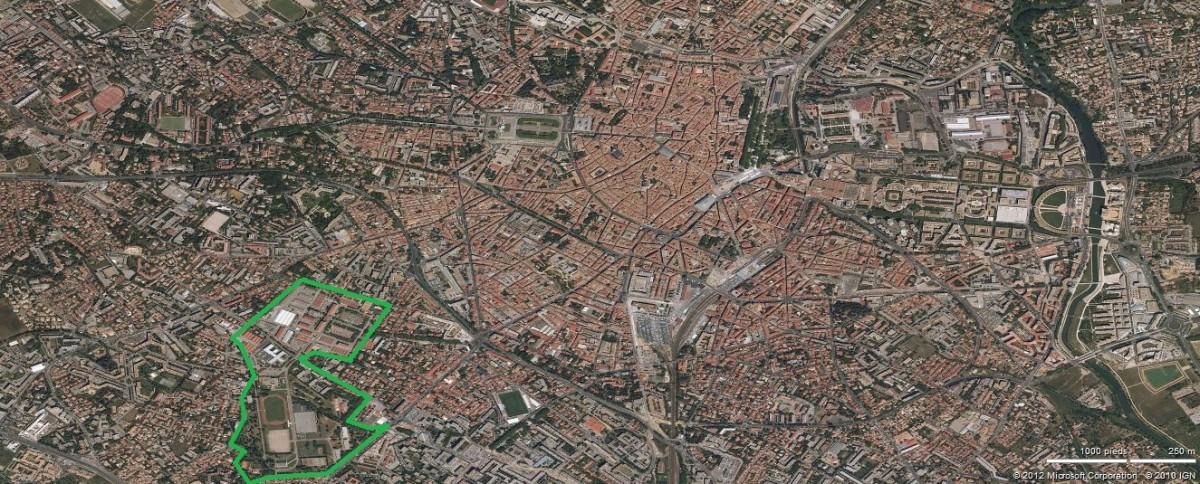 Un projet urbain en devenir sur 38 hectares de friche for Montpellier terre archi