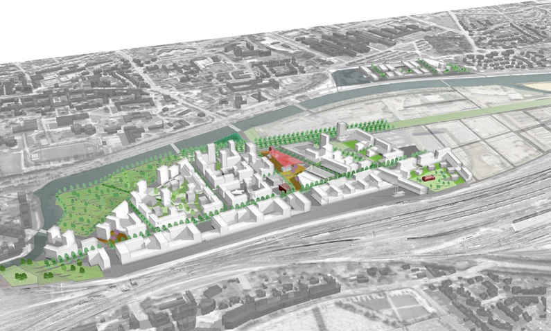 zac baud chardonnet rennes pont projet urbain Livraison programme pour le nouveau Pont Chardonnet  Rennes : t 2012
