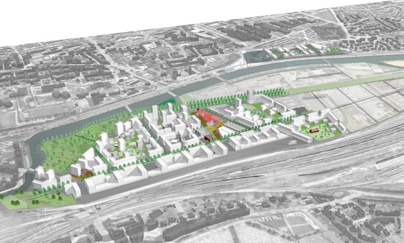 zac baud chardonnet rennes pont projet urbain Livraison programmée pour le nouveau Pont Chardonnet à Rennes : été 2012