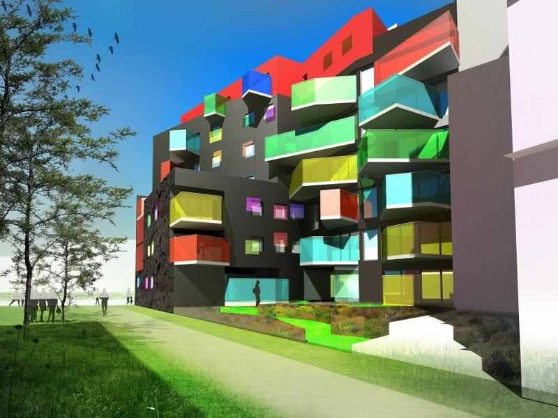 Ile Seguin Un Immeuble D 39 Habitat Social Haut En Couleurs Boulogne Billancourt