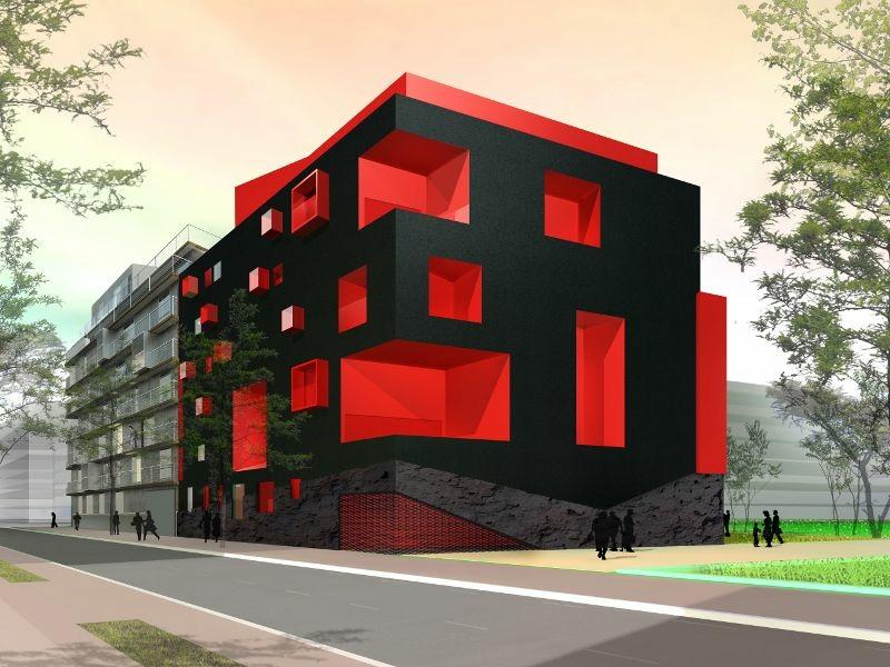 Ile seguin un immeuble d 39 habitat social haut en couleurs for Facade immeuble moderne