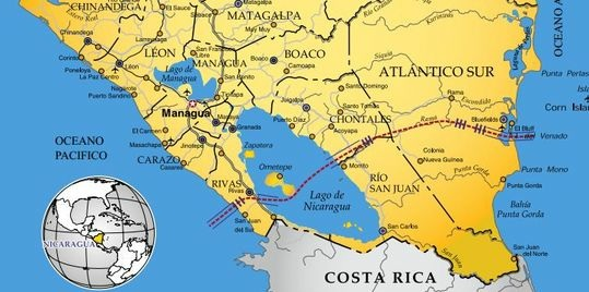 projet canal nicaragua interoceanique Le projet de construction du canal du Nicaragua refait surface