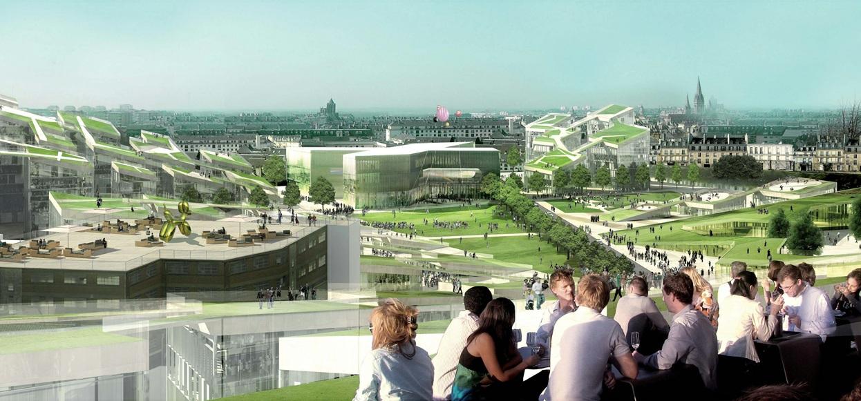 Trois visions pour un grand projet urbain caen la presqu 39 ile for Paysagiste le havre
