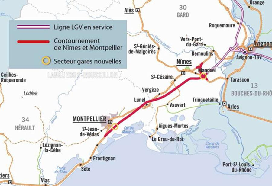 Contrat de partenariat pour le contournement ferroviaire de Nimes et Montpellier