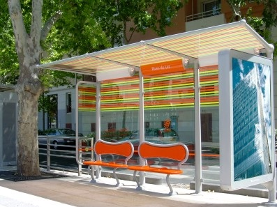 abris bus montpellier mobilier urbain design Le mobilier urbain : nouvel outil stratgique damnagement pour les villes ?