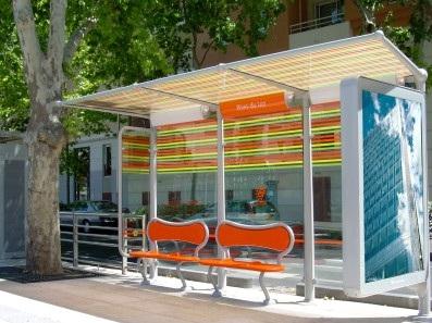 abris bus montpellier mobilier urbain design. Black Bedroom Furniture Sets. Home Design Ideas