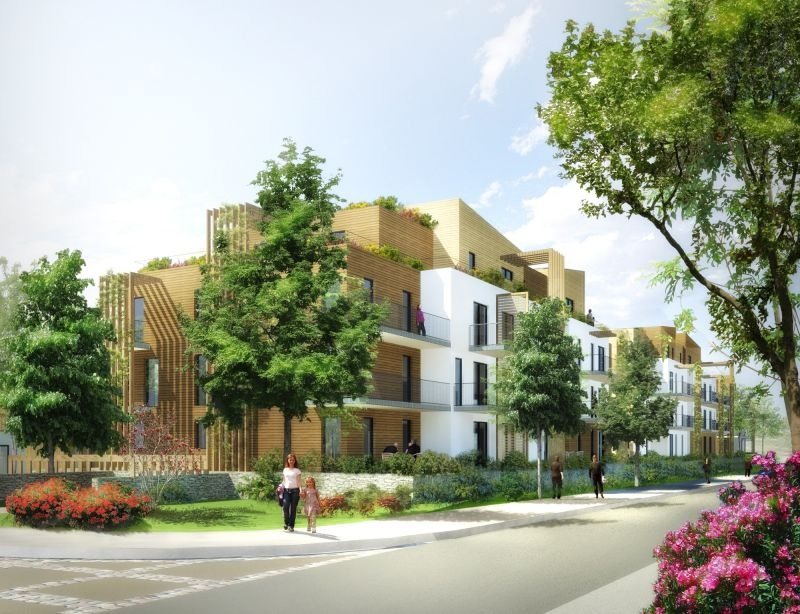 un lotissement cologique de 300 maisons 100 bois dans l essonne. Black Bedroom Furniture Sets. Home Design Ideas