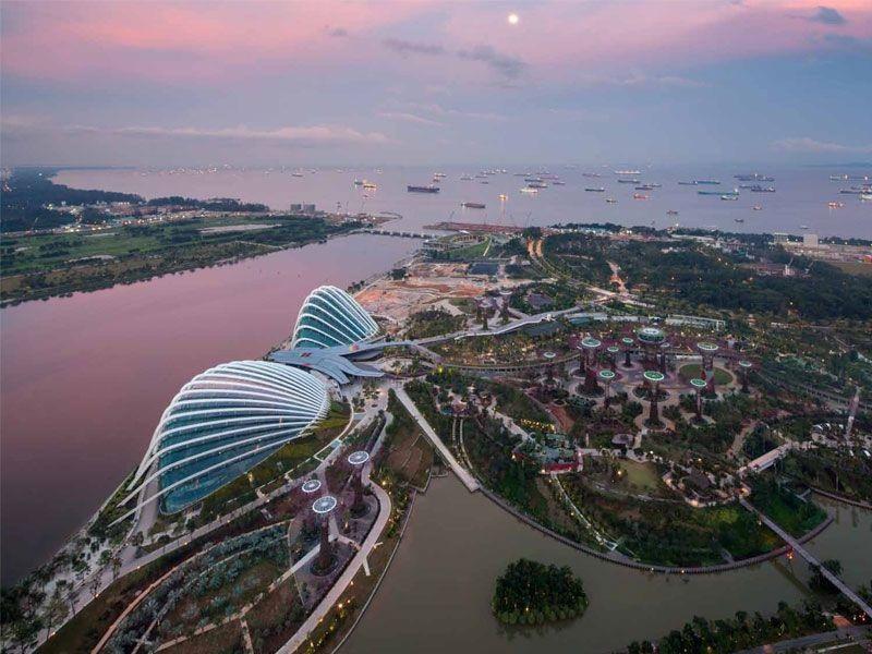 singapour baie serre Les serres écologiques de Singapour élues Bâtiment de lannée 2012