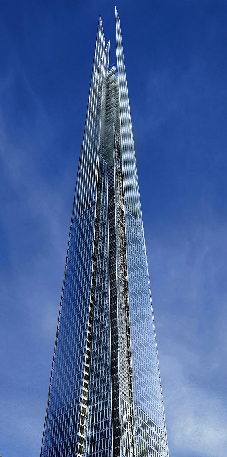 Tour shard londres le plus haut gratte ciel d 39 europe for Hotel de ville de londres architecture