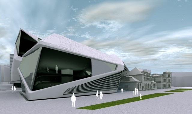 Une extension ultra moderne pour le mus e d 39 architecture for Architecture geometrique