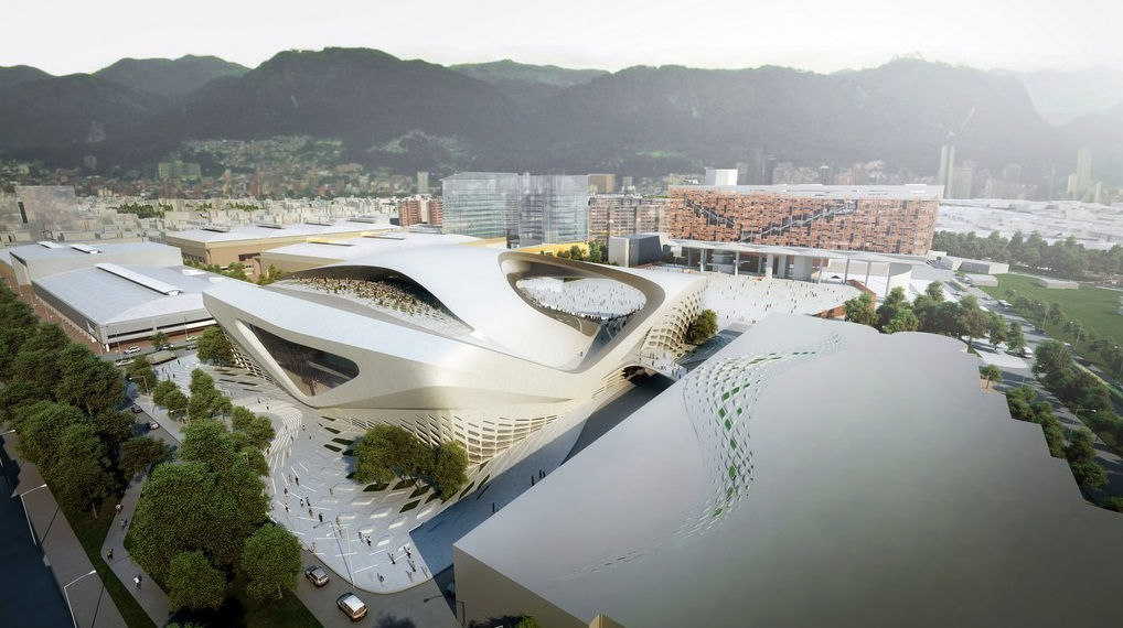 Zaha hadid imagine le centre des congr s bogota tout en for Architecture projet