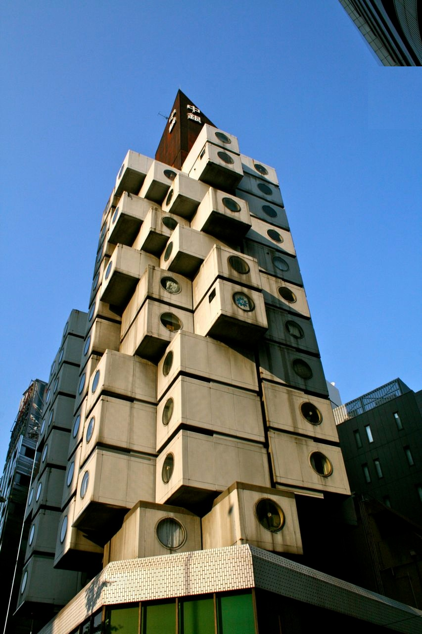 Nakagin capsule tower for Architecture modulaire
