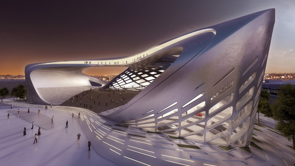 Zaha hadid imagine le centre des congr s bogota tout en for Grand international decor
