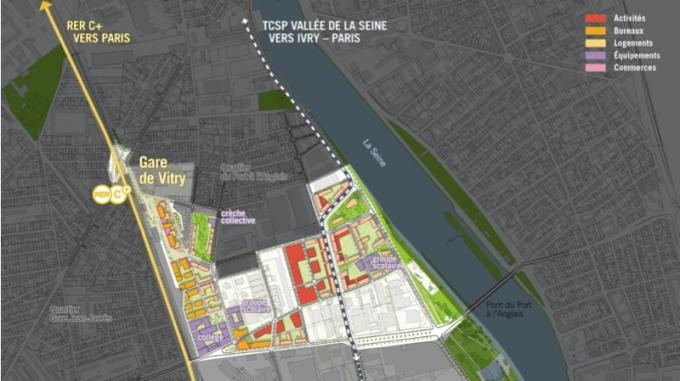 Vitry sur seine imagine la zac seine gare vitry et la zac gare ardoines - Piscine avec pente douce vitry sur seine ...