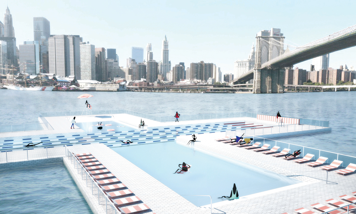 Pool piscines flottantes qui filtrent la pollution for Piscine new york