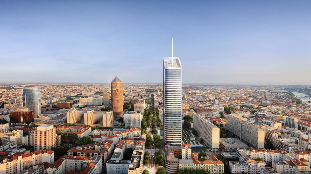 Tour Incity : dbut des travaux pour la future plus haute tour de Lyon