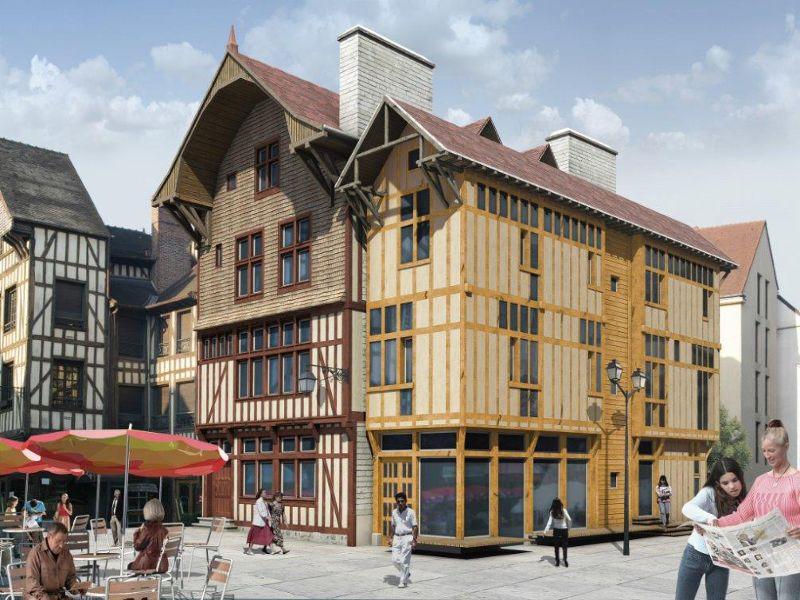 Une r novation tout chanvre pour une maison colombage for Maison bois troyes