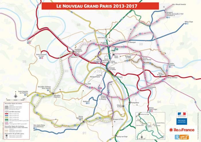 Le réseau de transports du Grand Paris en 20