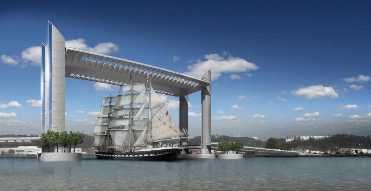 Inauguration du pont levant jacques chaban delmas bordeaux - Pont chaban delmas inauguration ...