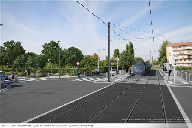 begles tramway c bordeaux Lagence OMA sélectionnée pour aménager le sud de Bordeaux le long de la ligne C du tramway