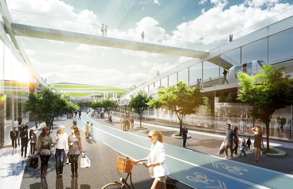 Les architectes de big s lectionn s pour concevoir europa city - Toiture vegetalisee paris ...