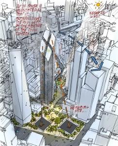 2 WTC new york 243x300 La tour 2 World Trade Center à New York : la troisième plus haute tour dAmérique par Norman Foster