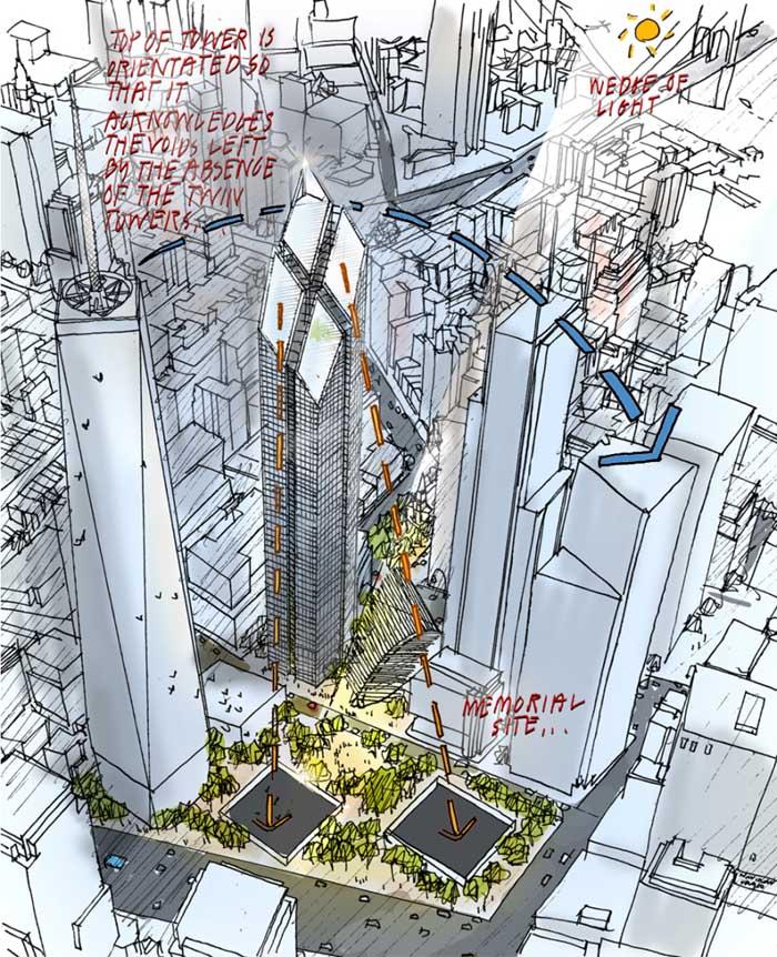 2 WTC new york La tour 2 World Trade Center à New York : la troisième plus haute tour dAmérique par Norman Foster
