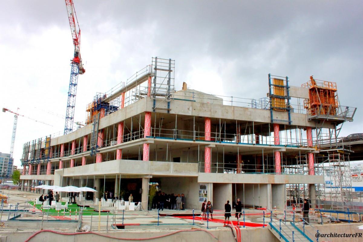 D part du chantier du balthazar immeuble marseille par for Batiment en construction