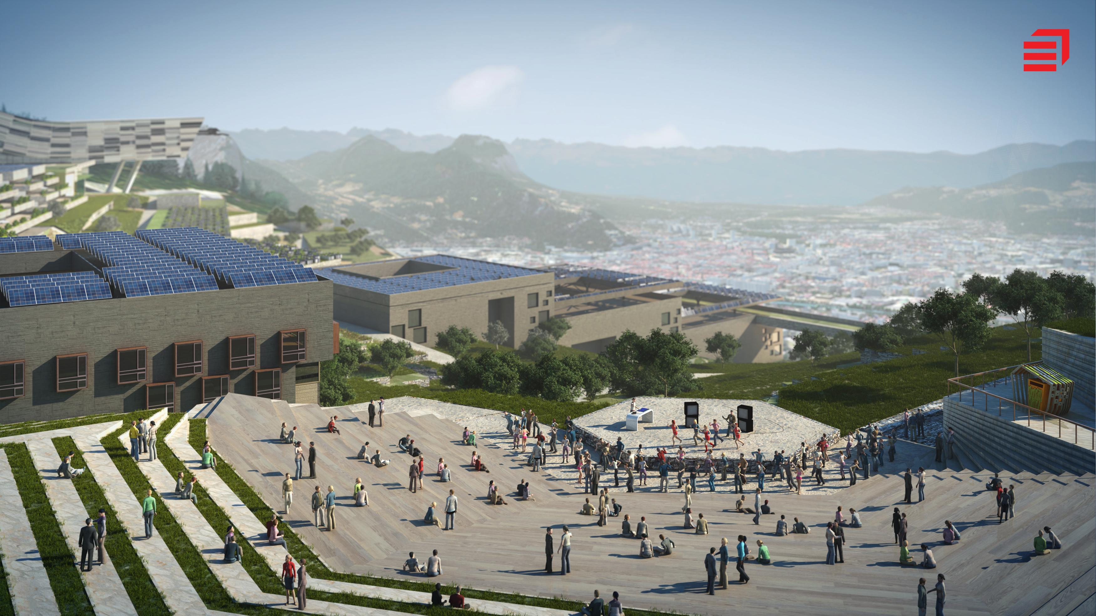 La ville en 2030 pr sentation de la ville durable du for Piscine entre 2 immeubles