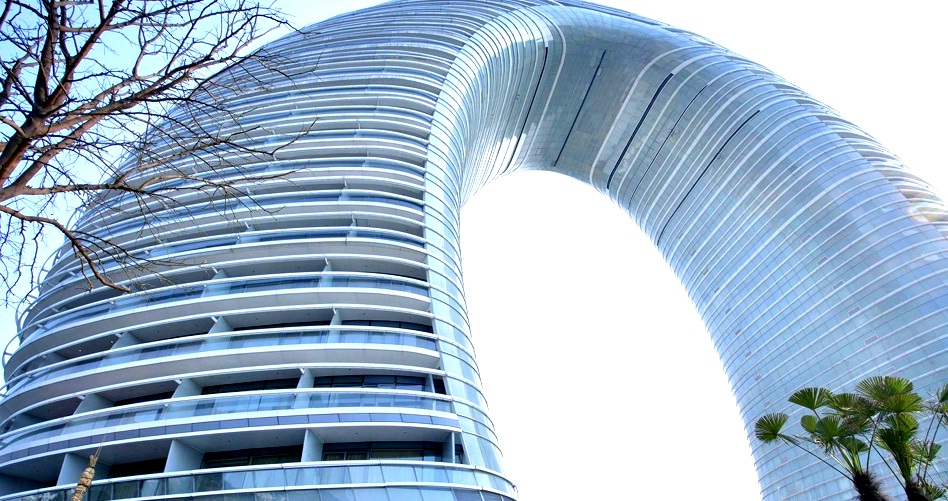 un h tel insolite en chine l 39 arche par mad architects On architecture insolite
