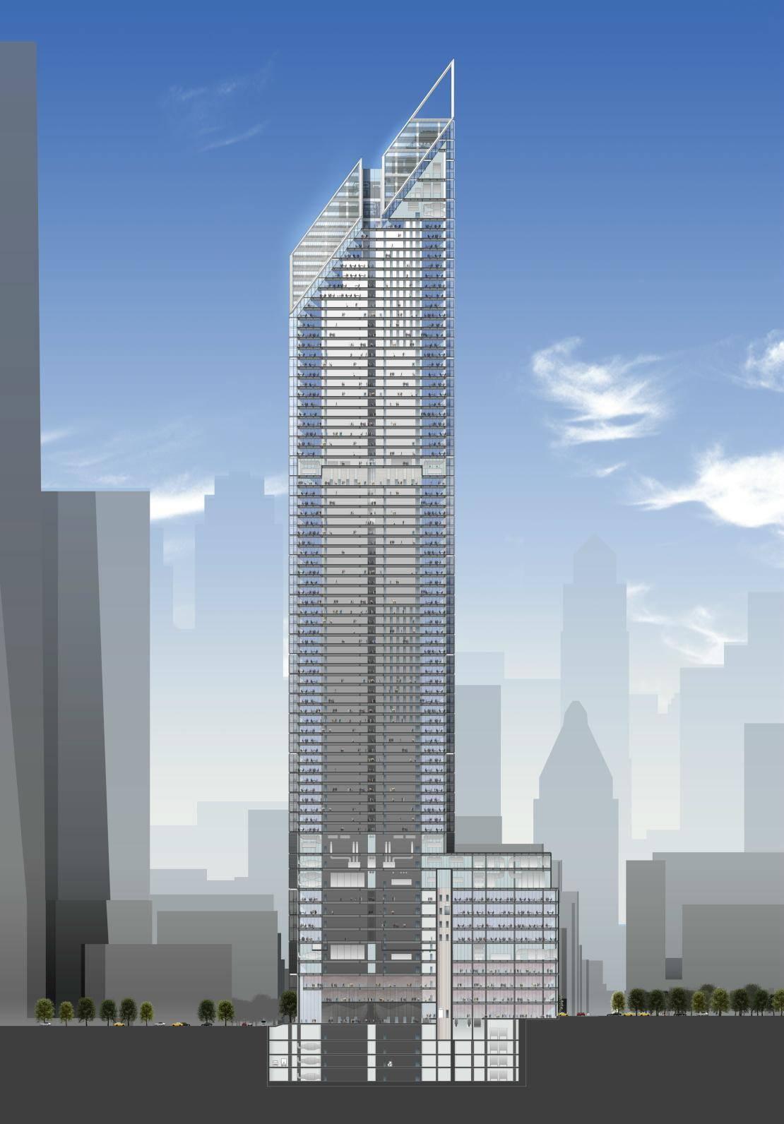 plan 2 world trade center tour La tour 2 World Trade Center à New York : la troisième plus haute tour dAmérique par Norman Foster
