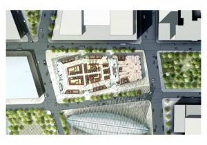 plan masse world trade center 300x211 La tour 2 World Trade Center à New York : la troisième plus haute tour dAmérique par Norman Foster